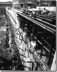 Bilder fra byggingen av World Trade Towers 45