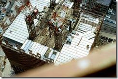 Bilder fra byggingen av World Trade Towers 8