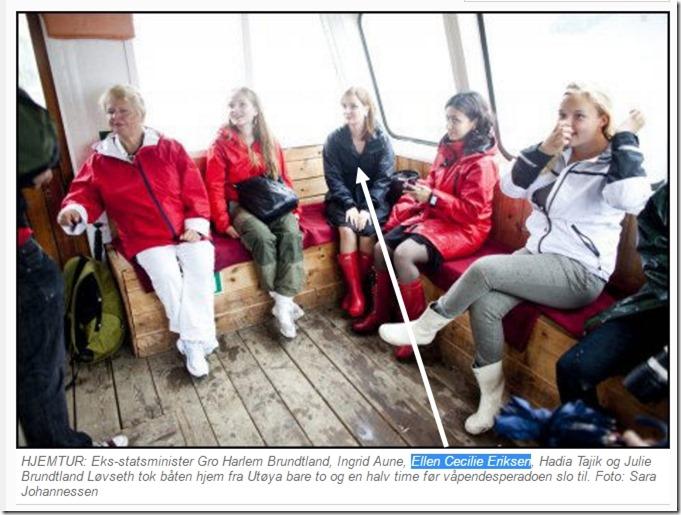 Gro Harlem Brundtland Ellen Cecilie Eriksen og Hadia Tajik