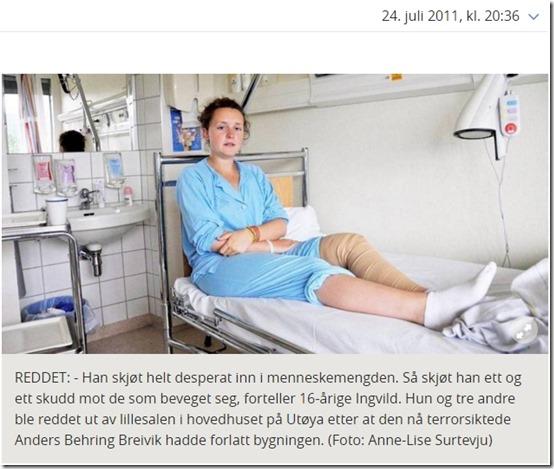 På sykehuset etter Utøya-terroren