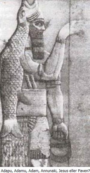 Adamu Adapu Adam med fiskehatt