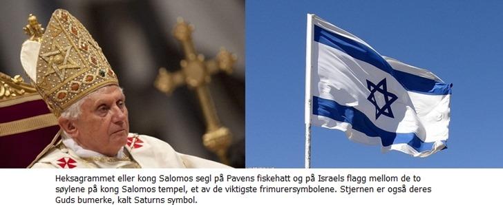 Paven og flagget