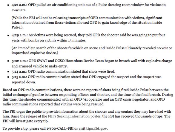 FBI-rapport Pulse Nightclub Shooting 2