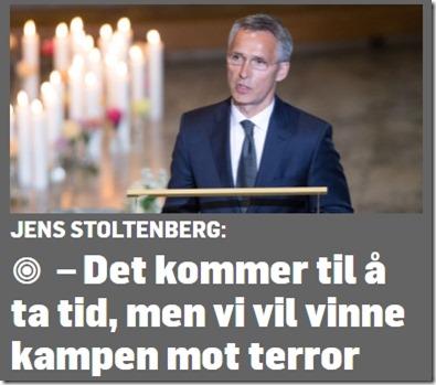 Terroristen på topp Jens Stoltenberg