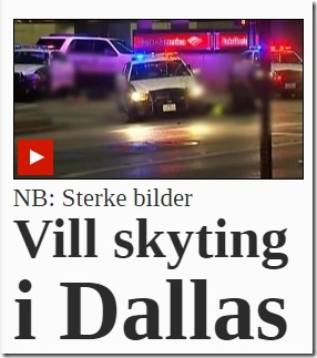 VG med presstitusjonsløgn om Dallas-skytingen