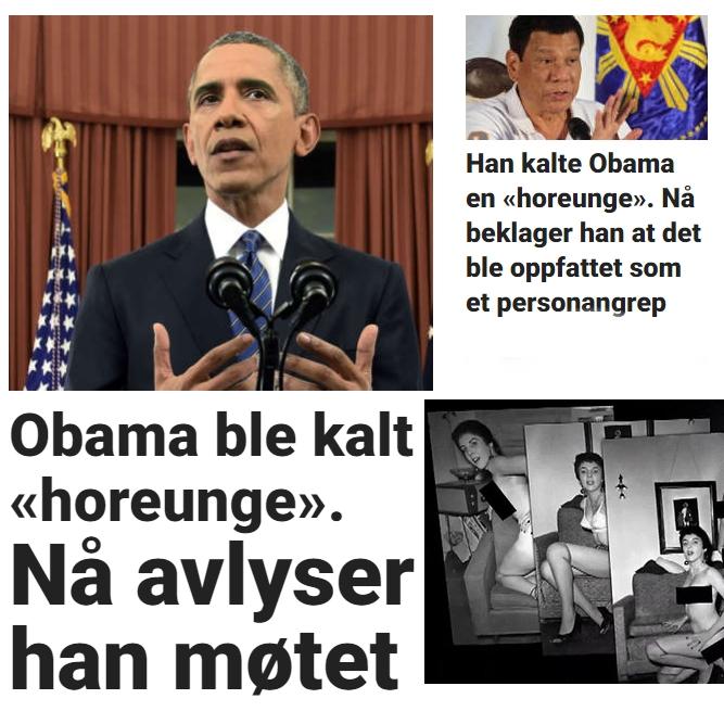 Barack Obama er en horunge enten De presstituerte liker det eller ikke