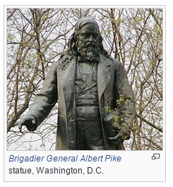 Statue av Albert Pike i Washington D.C. Bilde: Wikipedia