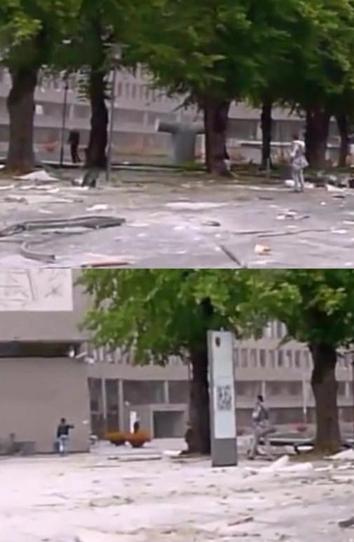 Den andre bombemannen montasje 22. juli 2011 regjeringskvartalet terror