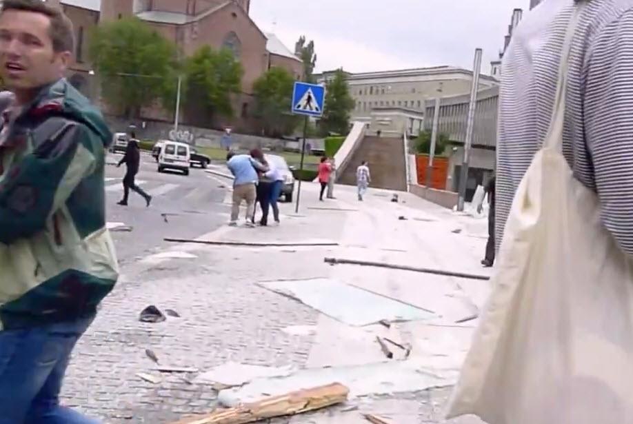 Marius Tetlie 22. juli 2011 Johan Nygaardsvolds plass Oslo-bomba terror Erik Schjenken