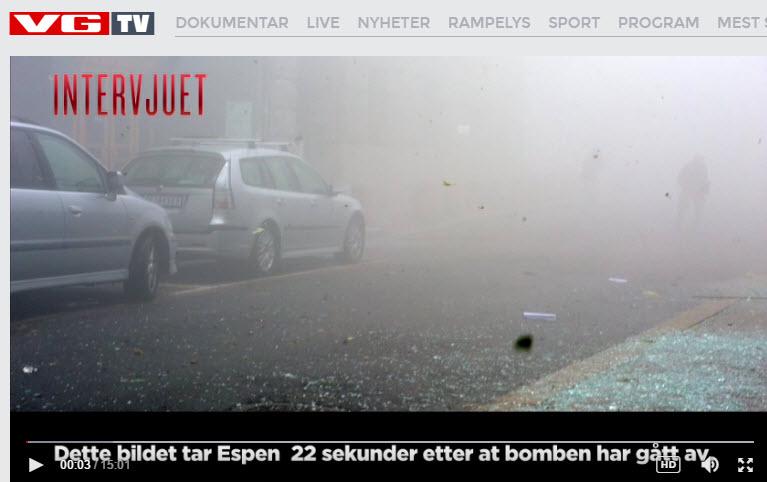 Espen Naumann 22. sekunder etter 22. juli 2011 terror Grubbegata Regjeringskvartalet