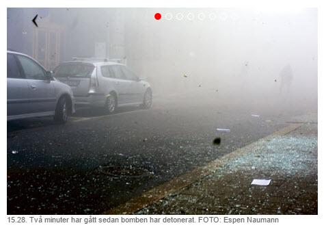 Espen Naumann to minutter etter 22. juli 2011 terror Grubbegata Regjeringskvartalet