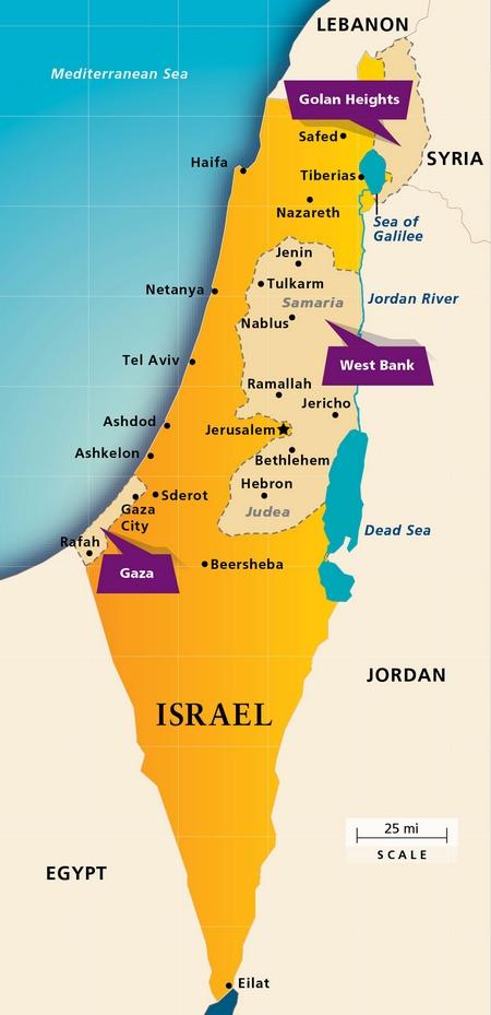 AIPACs versjon av Israel-kartet