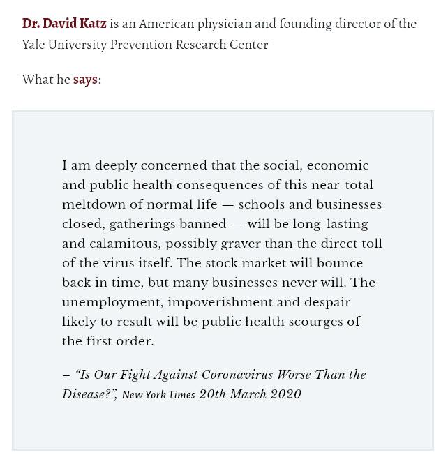 Dr. David Katz om coronaviruset
