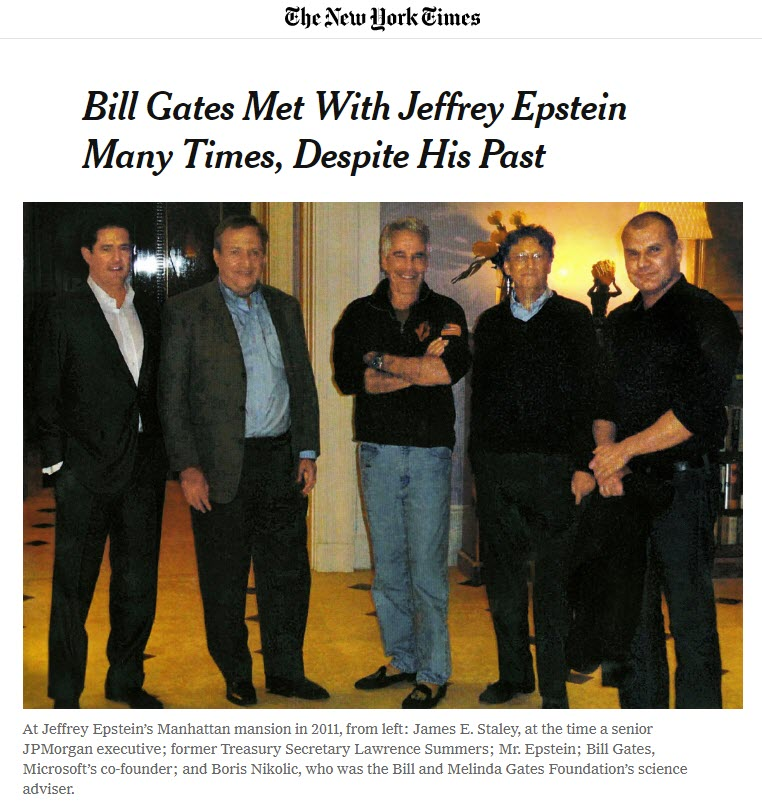 Jeffrey Epstein og Bill Gates